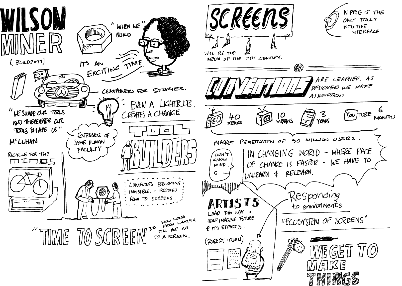'When we build' sketch notes